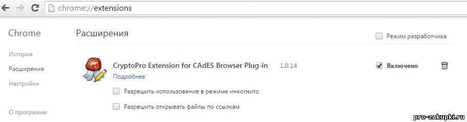 Как установить КриптоПро ЭЦП browser плагин в Chrome