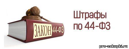Штрафы по 44-ФЗ